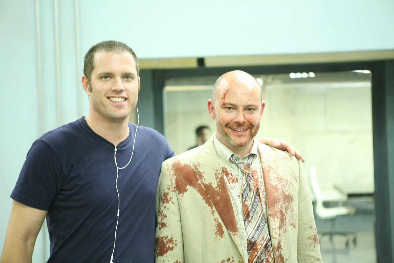 Pipeline CEO Chad Clough with actor Rob Corddry